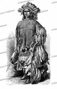 lipan apache warrior who died in battle in 1842, a. gilbert, 1870