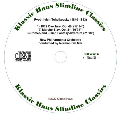 Second Additional product image for - 1812 Overture/Marche Slav/Romeo and Juliet - New Philharmonia Orchestra/Norman Del Mar