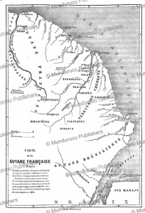 map of french guiana, fre´de´ric bouyer, 1867