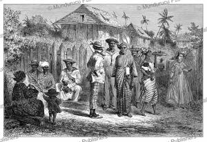 natives of cayenne, french guiana, e´douard riou, 1867