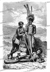 roucouyenne indians, french guiana, h. thiriat, 1883