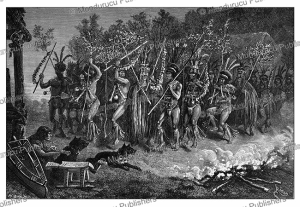 Dance by Roucouyenne Indians, French Guiana, E´douard Riou, 1883 | Photos and Images | Digital Art