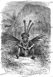 A medicine man of the Roucouyenne Indians, French Guiana, E´douard Riou, 1867 | Photos and Images | Digital Art