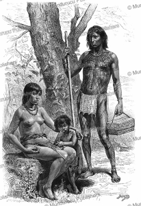 Oyampi chief decorated with red paint and his wife, French Guiana, D. Maillart, 1883 | Photos and Images | Digital Art