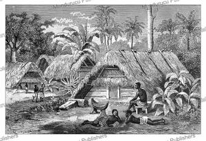 The hut of Adiouba, the sister of Apetou, in the village Saint-Bernard, Canedi, 1890 | Photos and Images | Digital Art