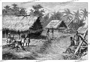 Saint-Bernard, the village of Apetou, French Guiana, Canedi, 1890   Photos and Images   Digital Art