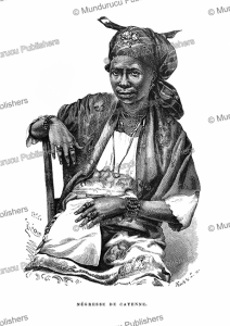 negro woman of cayenne, french guiana, e´douard riou, 1866
