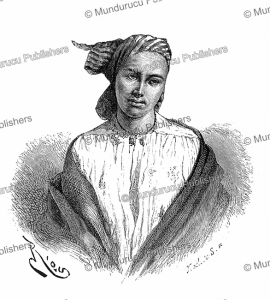 a white mulatto of cayenne in french guiana, edouard riou, 1866