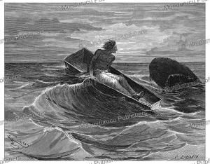 prisoner escapes in a coffin, french guiana, e´douard riou, 1867