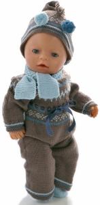 dollknittingpatterns 0207d rudi - dress, lue, sokker og skjerf-(norsk)