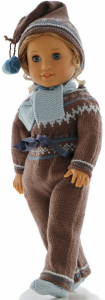 dollknittingpattern 0207d rudi - suit, cap, scarf and shoes-(english)
