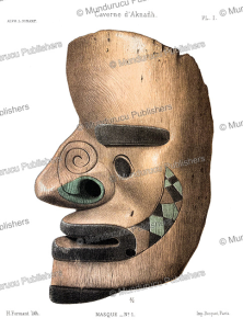 funeral mask with tattoo patterns found on unga island of the shumagin islands in the aleutians, alaska, l. pinart, 1875