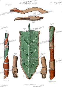 wooden legs and arms found on unga island of the shumagin islands in the aleutians, alaska, l. pinart, 1875