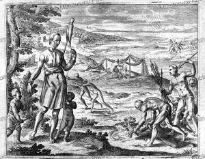 Natives of St. Lawrence Island, Alaska, Jan Huygen van Linschoten, 1610 | Photos and Images | Digital Art
