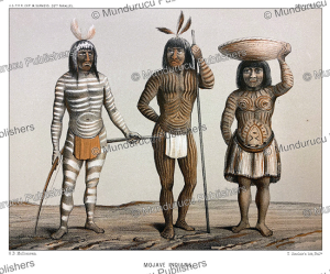 Mojave (Mohave) Indians with body paint and face tattoos, H.B. Mollhausen, 1857   Photos and Images   Digital Art