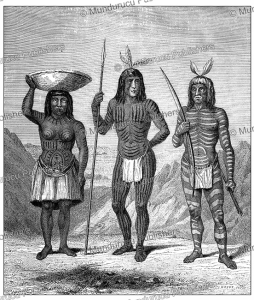 Mojave (Mohave) Indians with body paint and face tattoos, J. Duveau, 1860   Photos and Images   Digital Art