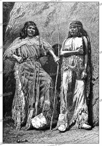 The Arrow Maker and his daughter, Kaivavit Paiutes Indians of Arizona, Jules Lave´e, 1892 | Photos and Images | Digital Art