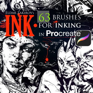 INK. for Procreate: 63 Brushes for realistic Inking | Software | Add-Ons and Plug-ins