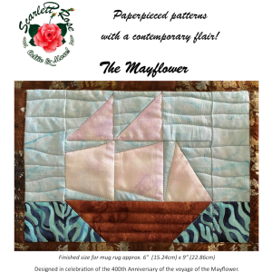 the mayflower - modern paperpieced (fpp) digital pattern