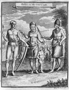 dress, weapons and tattooing of people of the gold coast, benin, thomas astley, 1746