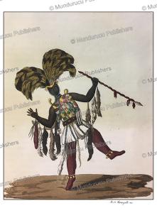 ashanti or asante captain in his war dress, paolo fumagalli, 1816