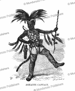 Ashanti or Asante captain in his war dress, Ghana, Johann Baptist Zwecker, 1870 | Photos and Images | Digital Art