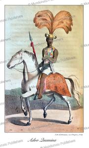 The Ashanti or Asante king, Adoo Quamina, on horseback, Ghana, William Hutton, 1823 | Photos and Images | Digital Art