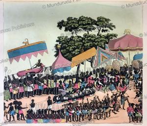english receiving the king of ashanti, now ghana, angelo biasioli, 1819