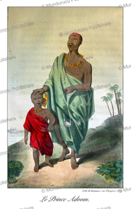 Prince Adum, nephew of the Ashanti (Asante) king, Ghana, William Hutton, 1823 | Photos and Images | Digital Art