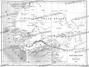 French map of Western African including Se´ne´gambie (Senegambia), Ame´de´e Tardieu, 1847 | Photos and Images | Digital Art