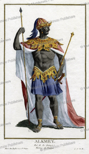 Alkmey, a king of French Guinea, West Africa, Pierre Duflos, 1780 | Photos and Images | Digital Art
