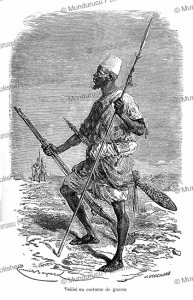 Talibe´ (Quran student) in war costume, Senegal, Emile Bayard, 1885 | Photos and Images | Digital Art