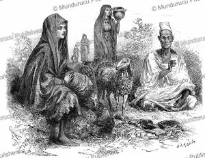 the peul beauty ai¨ssata, mali, e´douard riou, 1883