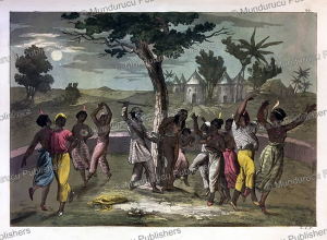 A Mandinka polygamist beats one of his wives in the brutal ritual of Mumbo Jumbo, Senegambia, Gallo Gallina, 1819 | Photos and Images | Digital Art