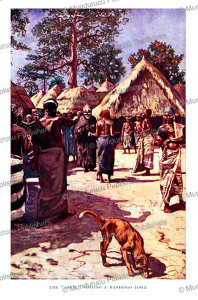 "the ""devil "" visiting a mandingo town, mali, harry johnston, 1912"