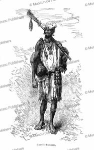 bambara warrior, senegambia (senegal and gambia), camile pietri, 1885
