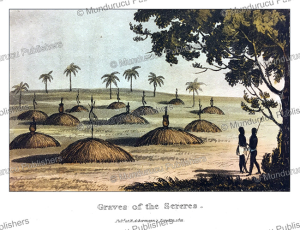 graves of the sereres (serer people), senegambia (senegal and gambia), frederic shoberl, 1821