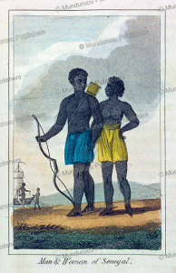 man and woman of senegal, 1831