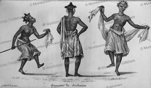 female soulimana dancers, sierra leone, alexander gordon laing, 1822