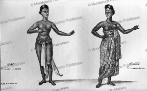 girl & woman of the timannienne tribe, alexander gordon laing, sierra leone, 1822