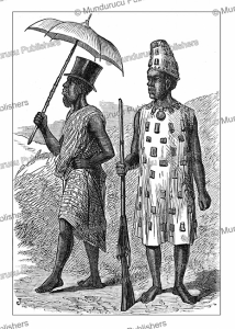 fante elder man and a warrior, ghana, henry morton stanley, 1874