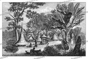 A Niam-niam village, Gustav Mu¨tzel, 1873 | Photos and Images | Digital Art