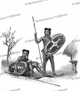 Niam-niam warriors, Paul Philippoteaux, 1873   Photos and Images   Digital Art