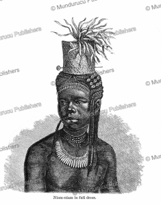 A Niam-niam in ceremonial costume, Georg Schweinfurth, 1873   Photos and Images   Digital Art