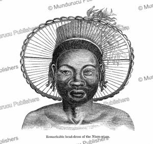Head-dress of Niam-niam (Azande) men, Paul Philippoteaux, 1873 | Photos and Images | Digital Art