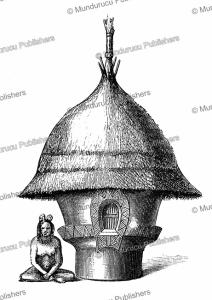 Niam-niam hut for boys, Georg Schweinfurth, 1878 | Photos and Images | Digital Art