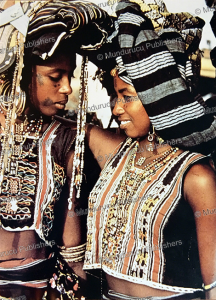 Two Wodaabe women in traditional dress with face tattoos, Nigeria | Photos and Images | Digital Art