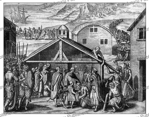 portuguese trading with the natives of congo, theodoor de bry, 1609