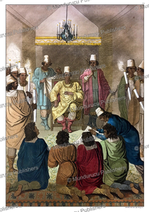 the king of congo receiving a dutch delagation, angelo biasioli, 1819