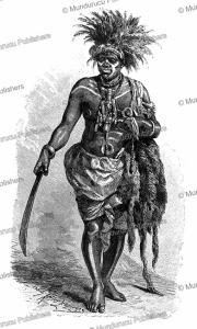 medicine man and wizard of the kingdom of loango (congo), franz keller-leuzinger, 1880